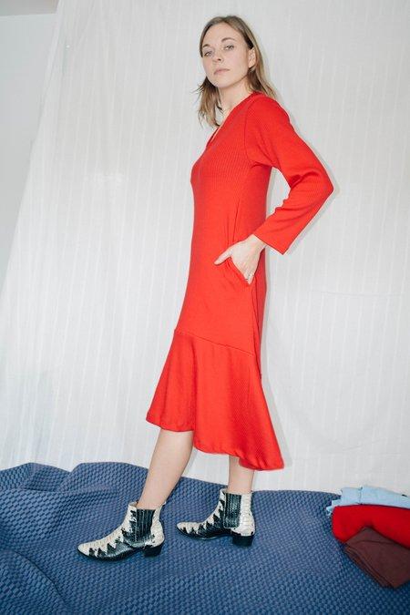CONRADO Stephanie Jersey Midi Dress - red