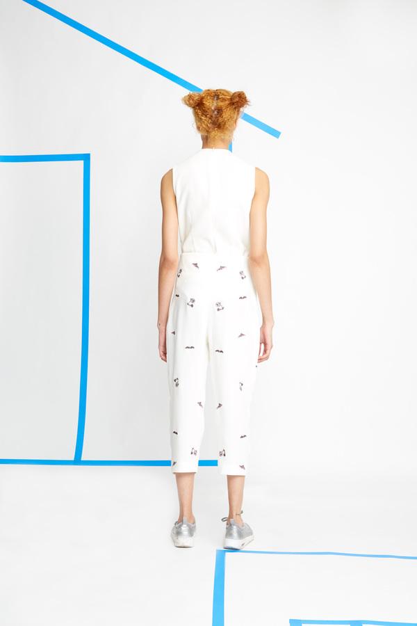 Hagahi Embroidered Silk Pants
