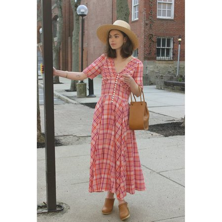 NO.6 PAOLA DRESS - RED/PURPLE PLAID