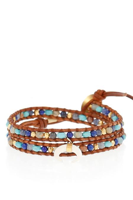 Chan Luu summer turquoise double wrap bracelet