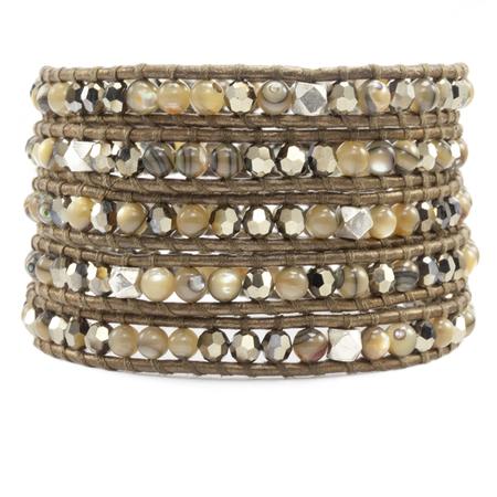 Chan Luu Swarovski bracelet - abalone multi stones
