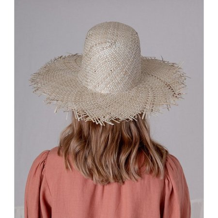 BROOKES BOSWELL SEAGRASS FRINGE HAT