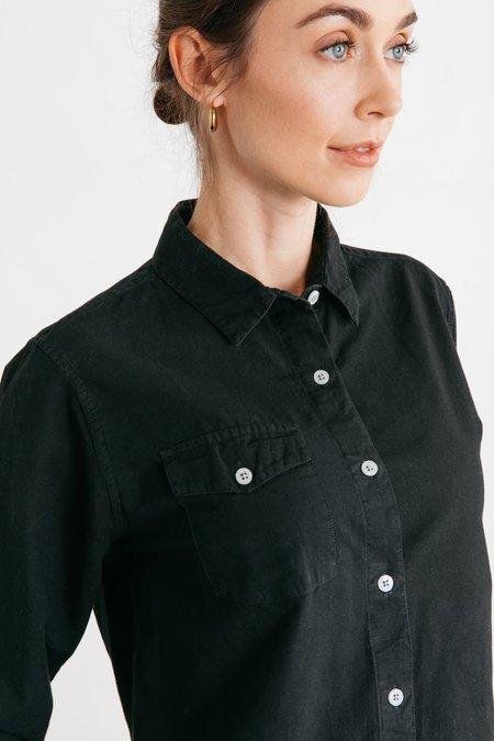 Bridge & Burn Bird shirt - Black Chambray