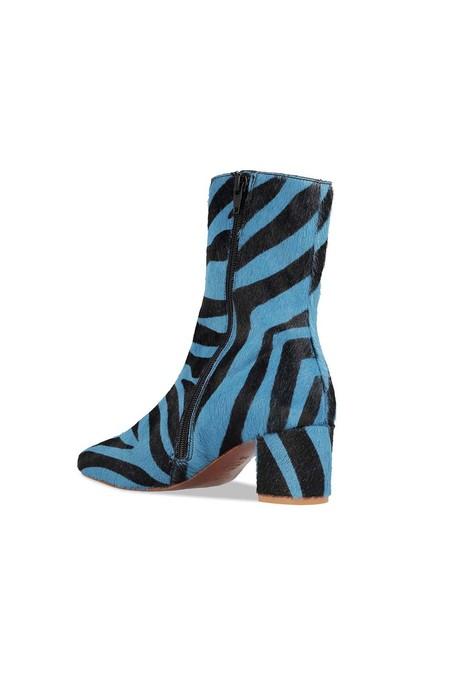 BY FAR Ponyhair Sofia Boots - Blue Zebra