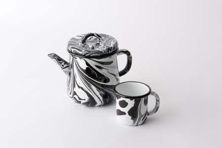 BORNN Enameled Metal Teapot
