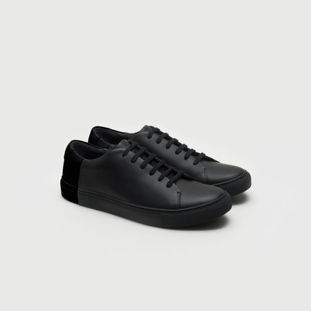 THEY Two-Tone Low Sneakers - Mono Black