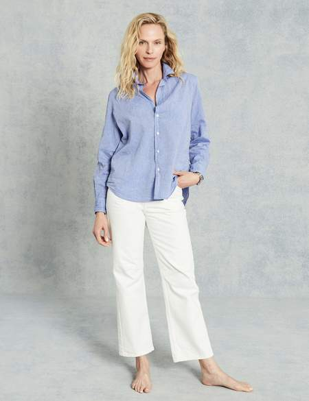 Frank & Eileen Eileen Italian Chambray Shirt - Heathered Blue