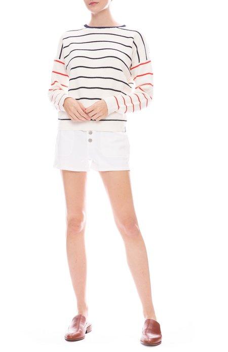 J Brand Nomey Utility Button Shorts - White