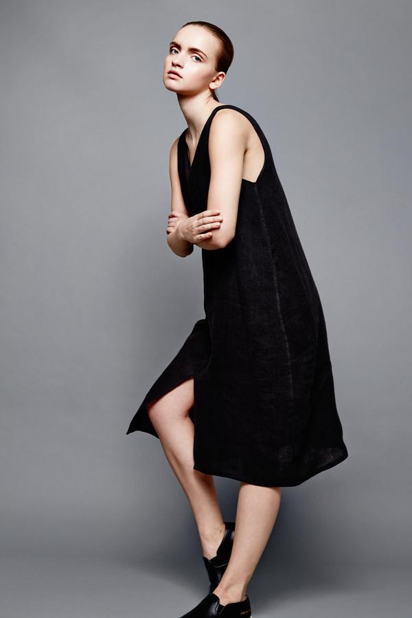 Devlyn Van Loon Tank split dress - Black