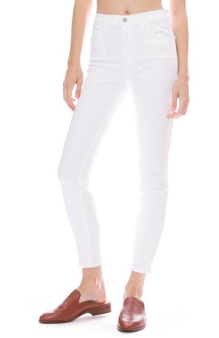 J Brand Alana High Rise Skinny Jean - Blanc
