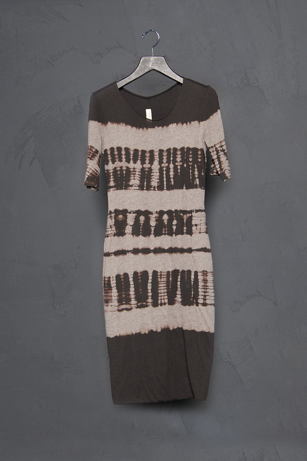 Raquel Allegra Short Sleeve Tie Dye Fitted Dress