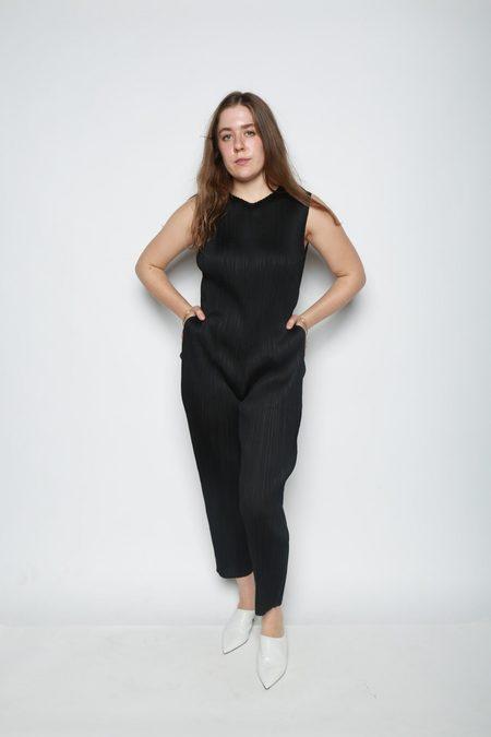 Issey Miyake Pleated Jumpsuit - Black