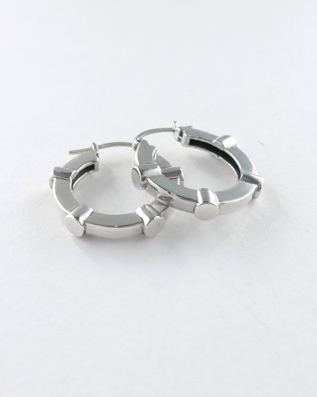 Lacar Stud Hoops - Silver