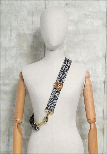 Gabriele Frantzen Bag Strap and Belt - Gold Tiger/Zebra Stripe