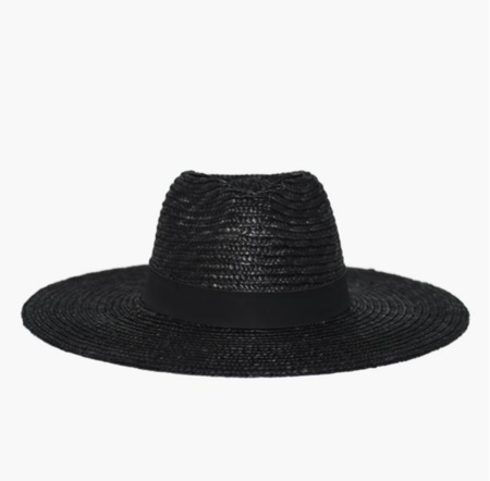 WYETH Suki Straw Panama Hat - Black