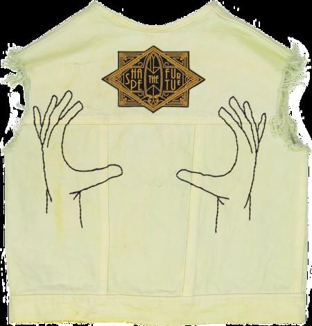 Kids Unisex Petit Mioche hand embroidered shape the future denim vest
