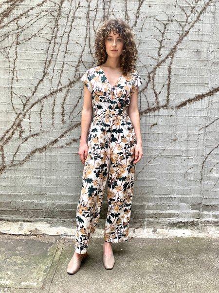 Christine Alcalay Surplice Pleated Jumpsuit