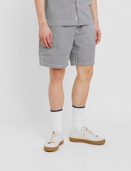 Wood Wood Baltazar Shorts - White/Navy Stripe