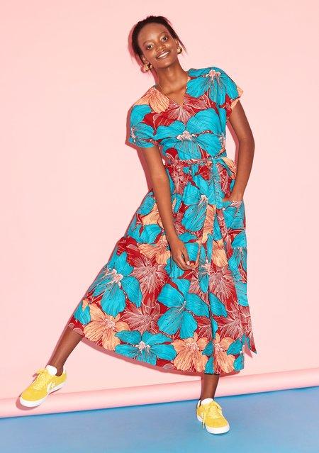 Yevu Midi Wrap Dress - Lily