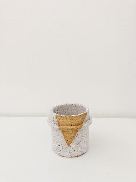 HEO Ceramics SPECKLED HANDWARMER TUMBLER - white