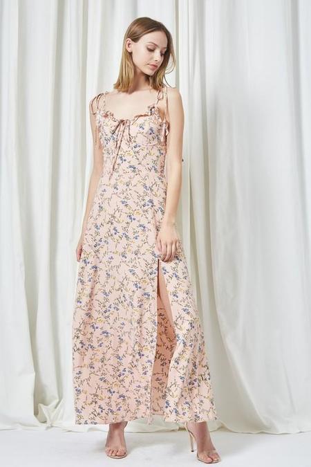 Etophe Studios Slit Maxi Dress - Blush Floral