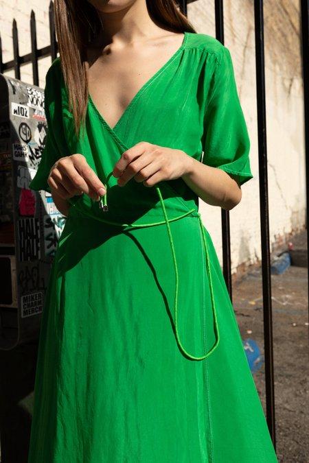 KkCo Wrap Dress - Lime
