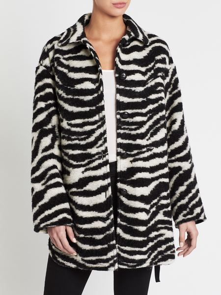 IRO Bera Coat - Black/White Animal