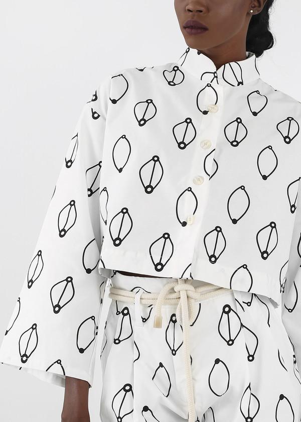 Delfina Balda Printed Armonia Button Up