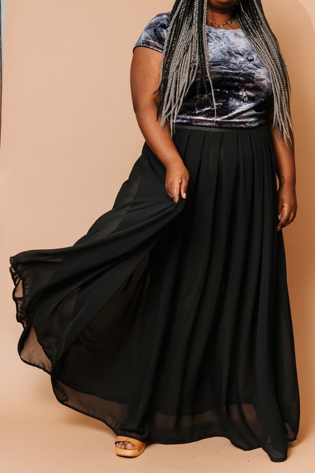 Copper Union Maxi Skirt - Sheer Black