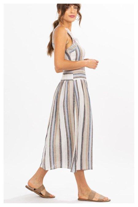 Mabel and Moss Striped Midi Sun Dress - multi