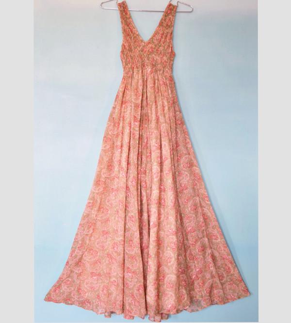 Pale Paisley Princess Dress