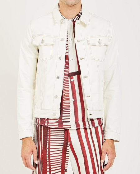 EDITIONS M.R JEAN DENIM JACKET - NATURAL/OFF-WHITE