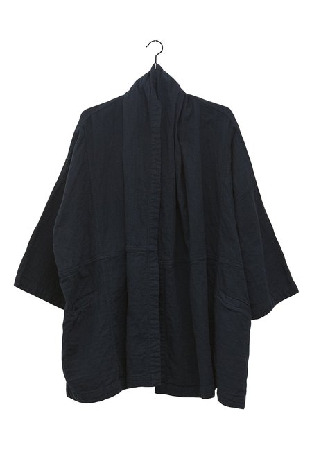 UNISEX Atelier Delphine Cotton Haori Coat - Midnight