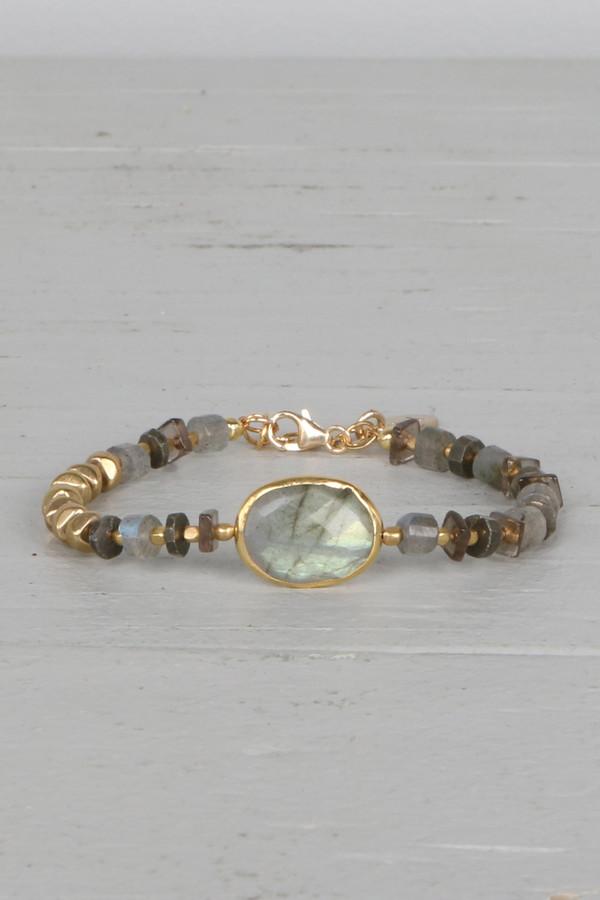 Mickey Lynn ML7127 Labradorite Smokey Quartz Bracelet