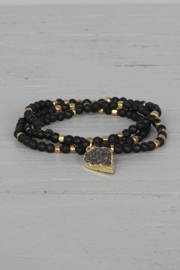 Mickey Lynn ML7458MB Petal Druzy Charm Bracelet