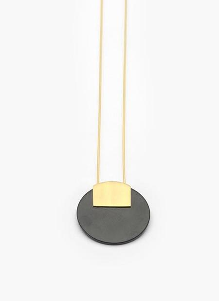 Adorn Monu Necklace - Solid Bronze/Black Onyx