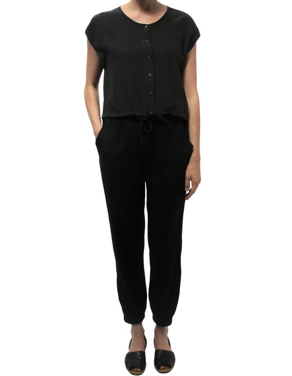 Ali Golden Black Drawstring Hem Shirt