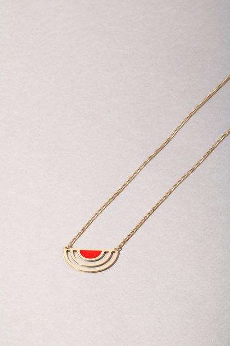 Anne Thomas Sunset Necklace - Neon Red