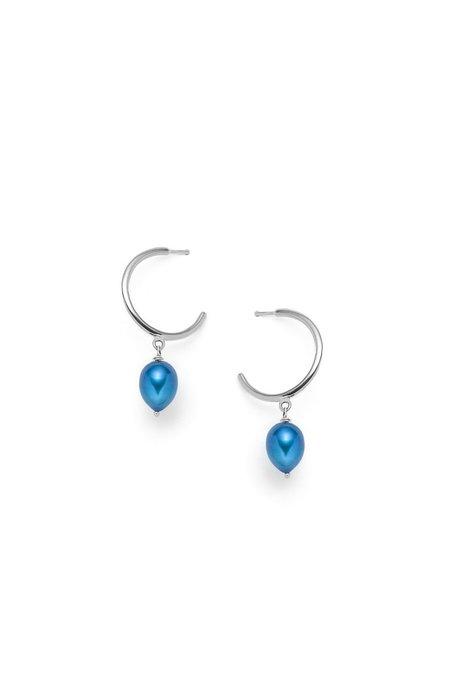 Nina Janvier Béatrice Earrings - Silver/Blu