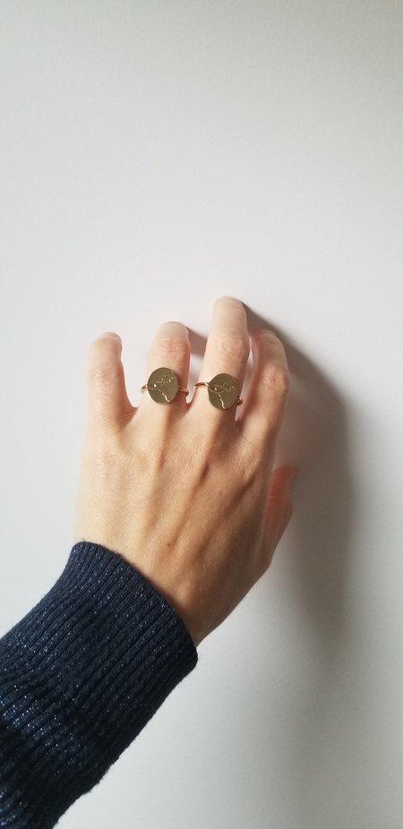 Nina Janvier Dada Eye Ring - Bras