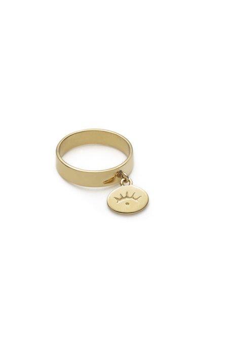 Nina Janvier Nadja ring - 14k Gold Plated