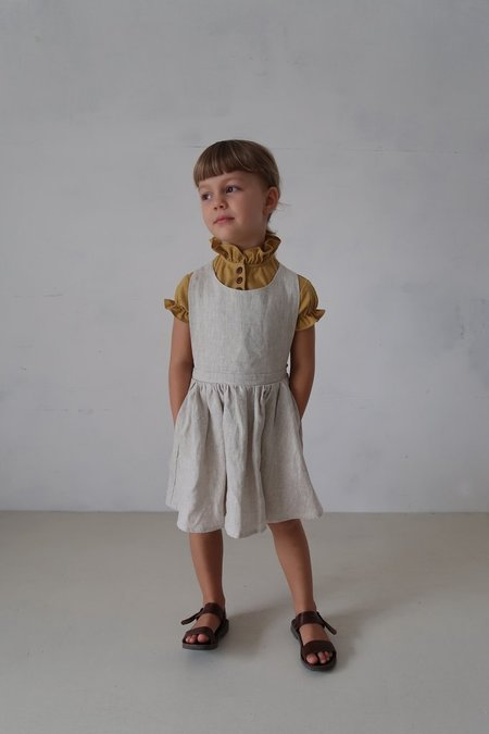 KIDS House Of Paloma Iris Pinafore - Stone