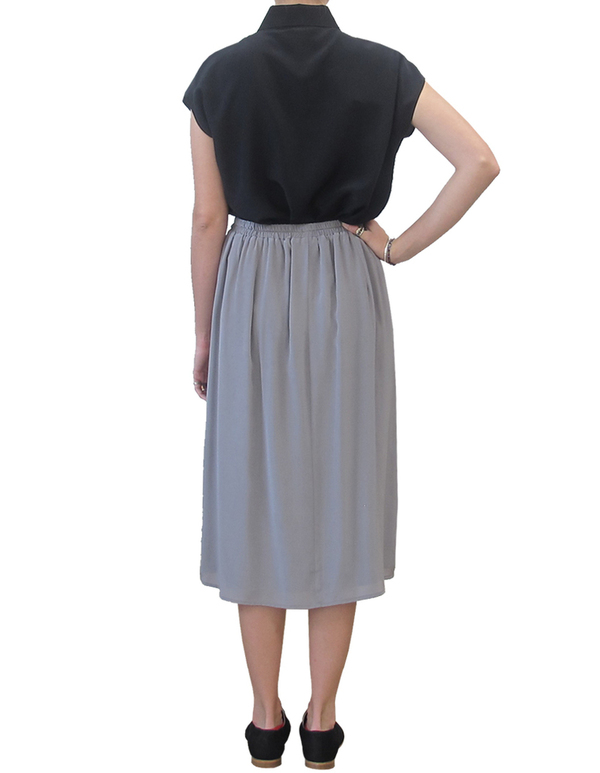 ALI GOLDEN GREY MIDI SKIRT
