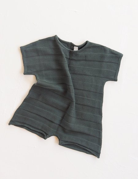 Kids Millk Knit Jumpsuit - Leaf