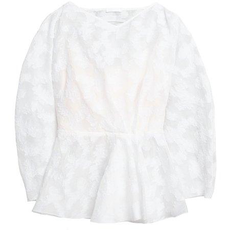 Lake Studio Peplum Blouse - White Floral