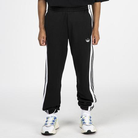 adidas 3 Stripe Panel Sweatpants - Black