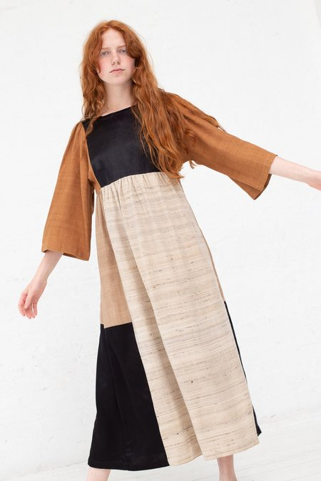 Milena Silvano Kelci Dress - Natural/Rust/Black