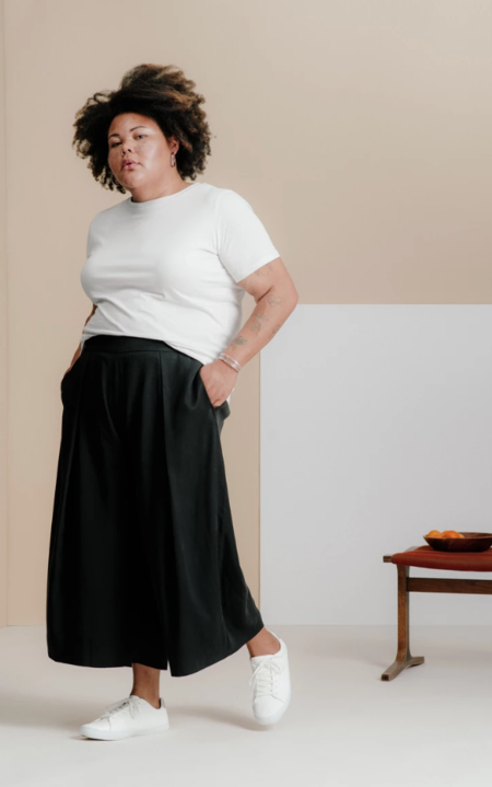 And Comfort The Pleated Culottes - Black