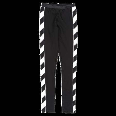 Off-White Diagonal Athletic Leggings - Black/White