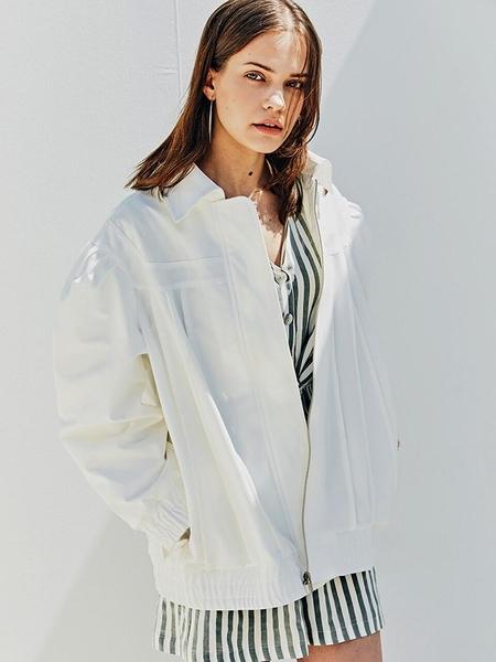 FAYRI Porcelain Puff Sleeve Oversize Jacket